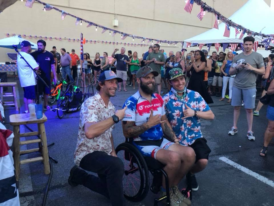 Photo: Ricky Raley and Travis Pastrana with Phil Smage of the Nitro Circus